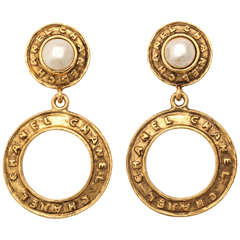 Chanel Pearl Hoop Earrings by Victoire de Castellane