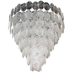 Monumental Multi-Tiered Chandelier by Vistosi