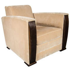 Art Deco Style Cubist Club Chair by Angelo Donghia