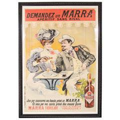 """Gorgeous Belle Époque Poster by Francisco Tamagno """"Demandez Un Marra"""""""