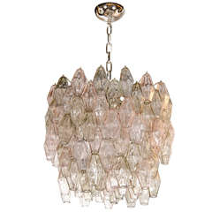 Mid-Century Modernist Polyhedral Chandelier by Carlo Scarpa for Venini