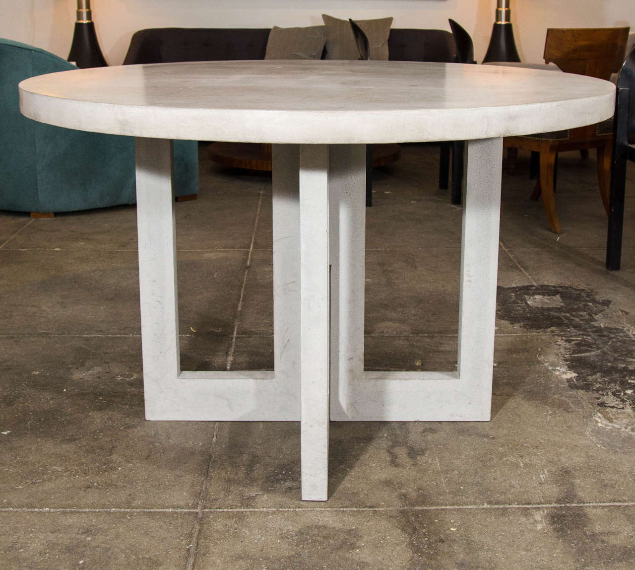 Dalton Concrete Dining Table at 1stdibs