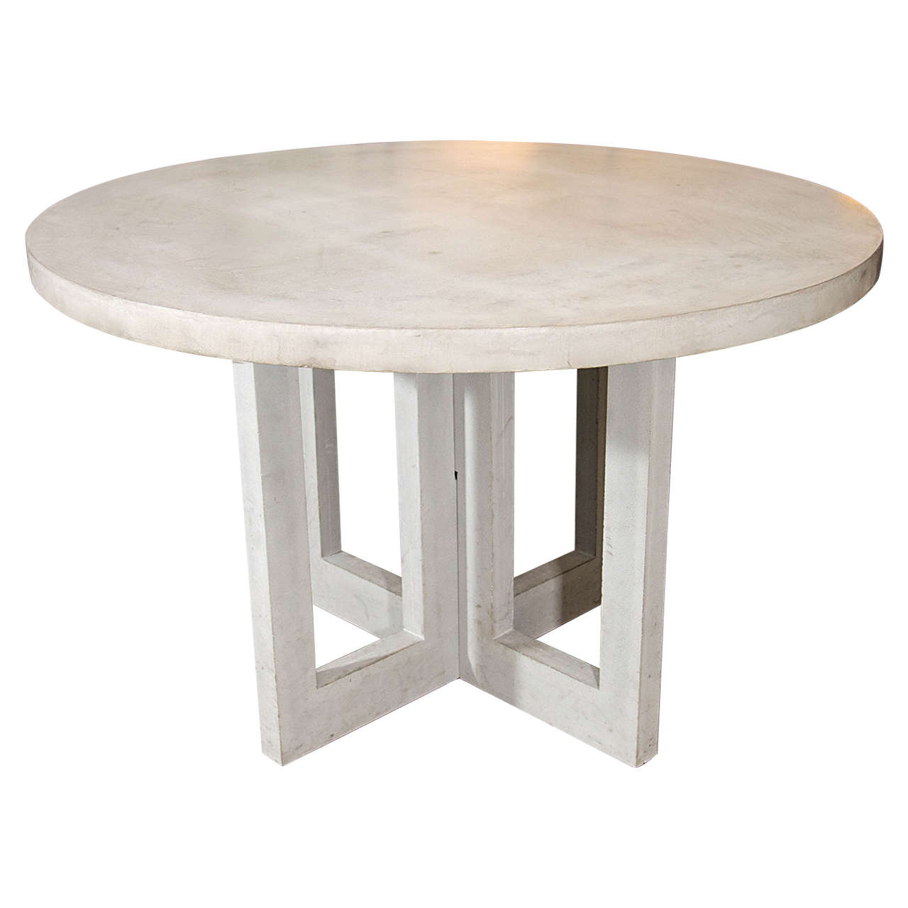 dalton concrete dining table at 1stdibs. Black Bedroom Furniture Sets. Home Design Ideas