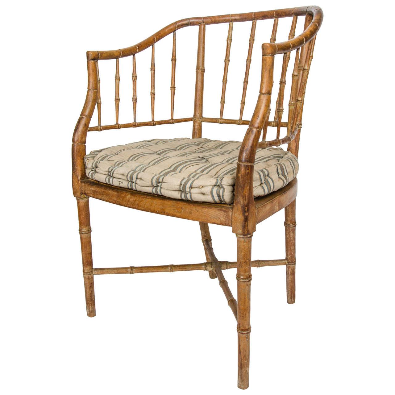 Regency Faux Bamboo Desk Chair
