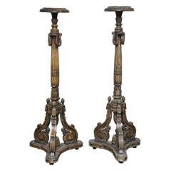 Pair of Italian Louis XVI Style Torchiere Pedestals