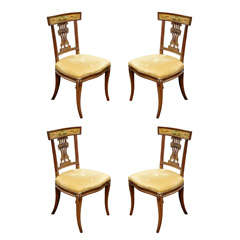 Set of Four Italian Empire Klismo Chairs