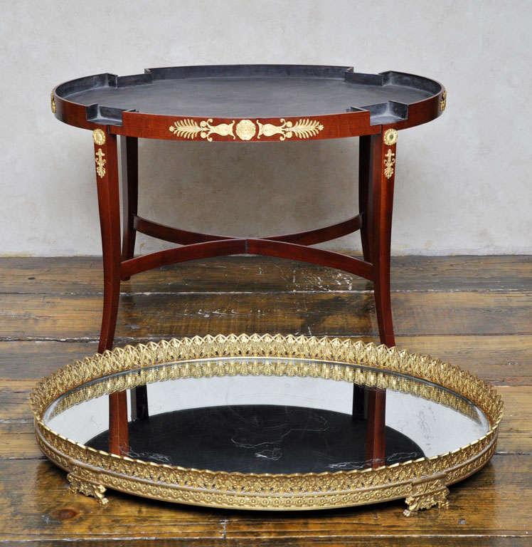 Empire Mirrored Coffee Table: French Empire Plateau Coffee Table For Sale At 1stdibs