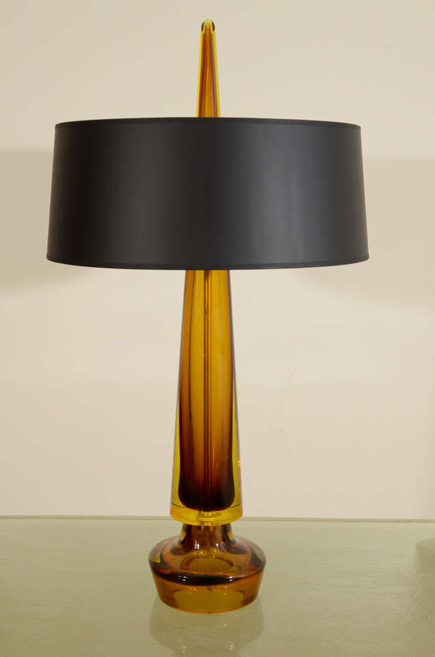 fulvio bianconi colored glass table lamp and black shade at 1stdibs. Black Bedroom Furniture Sets. Home Design Ideas