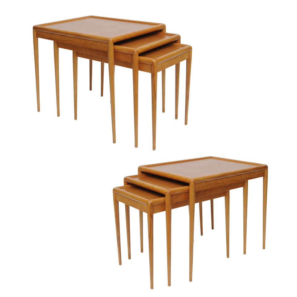 Pair of T.H. Robsjohn-Gibbings Nesting Tables Sets for Widdicomb
