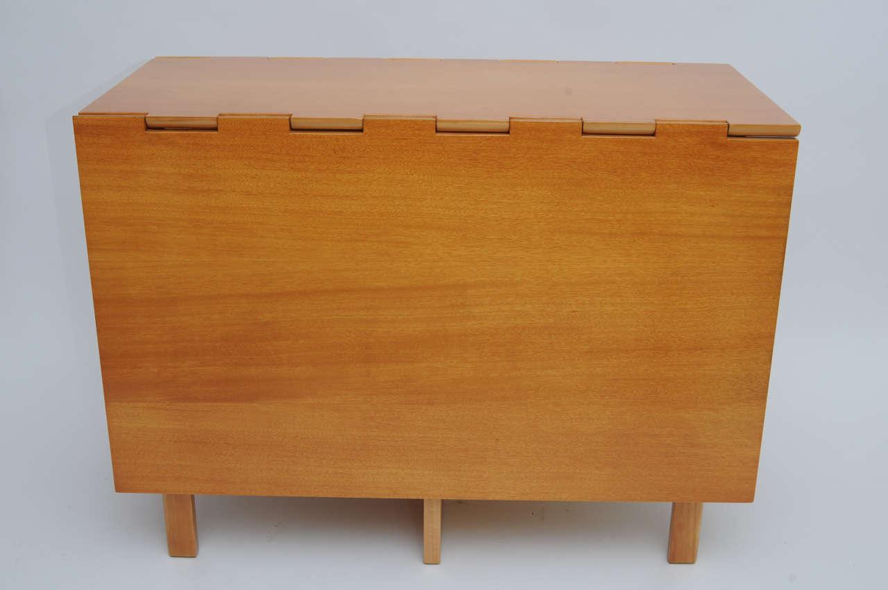 Classic George Nelson Primavera Gate Leg Table For Herman Miller At - Mid century modern gateleg table