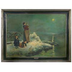 Monumental Oil on Canvas by Eiris Argentina
