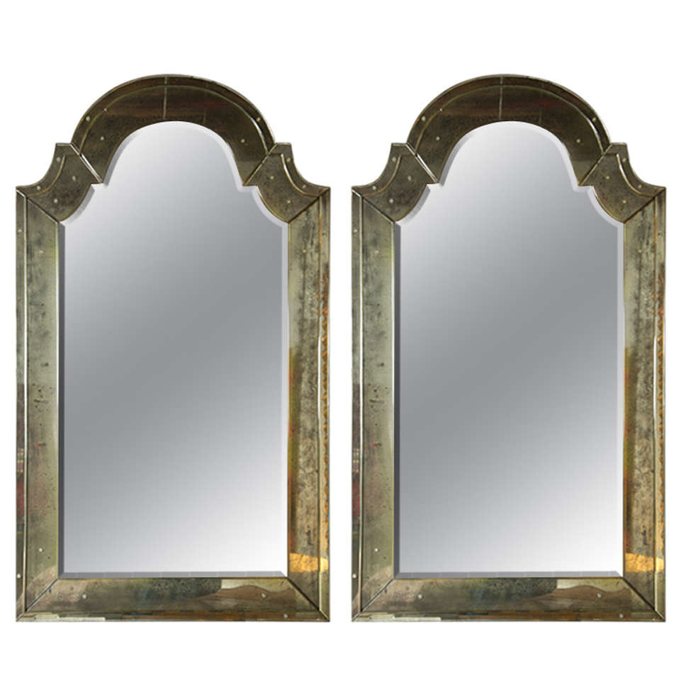 Arched gilt mirror at 1stdibs - Pair Of Classic Arch Top Venetian Style