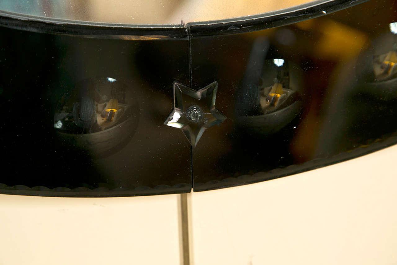 Decorative round glass panel mirrors at 1stdibs - Decorative glass wall panels ...
