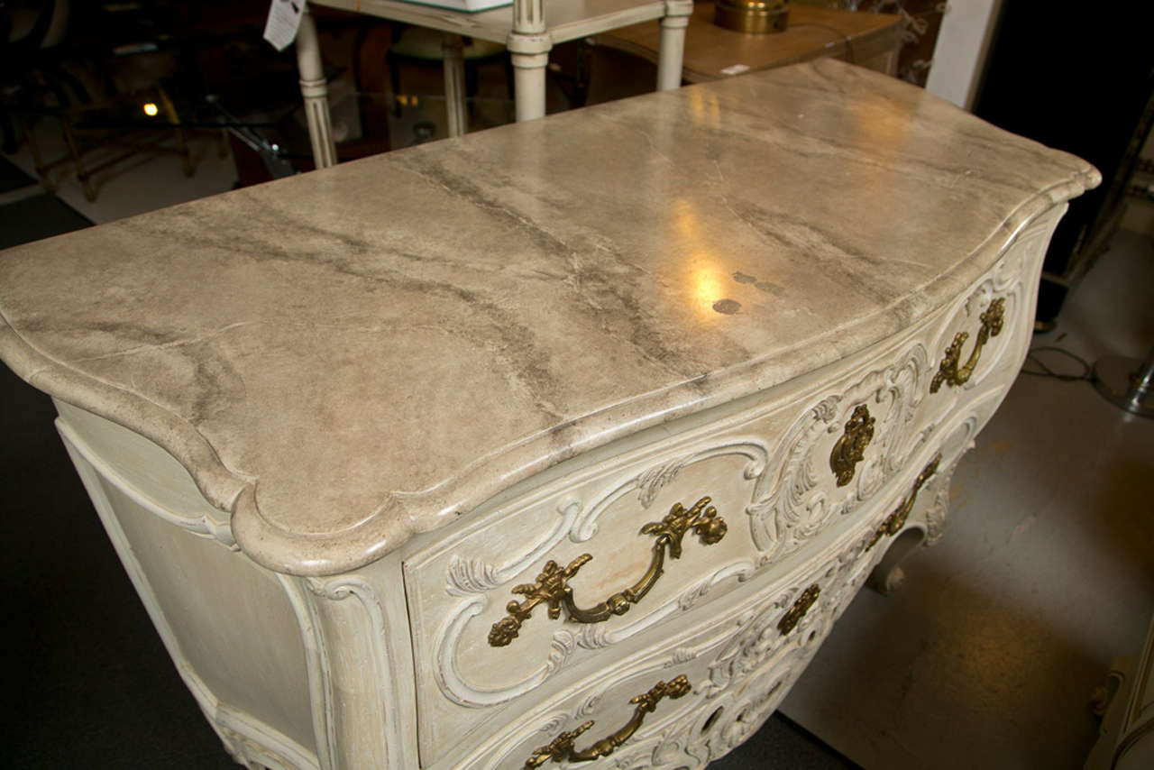 Rococo French Regency Style Commode by Maison Jansen For Sale