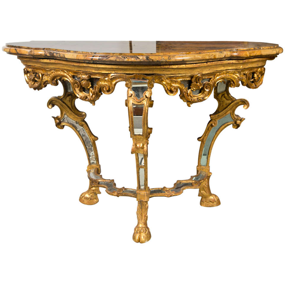 Italian 18th. Century Console Table 1