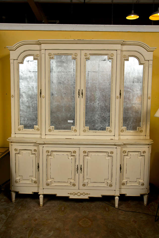 Maison Jansen Ivory Painted Bookcase For Sale At 1stdibs
