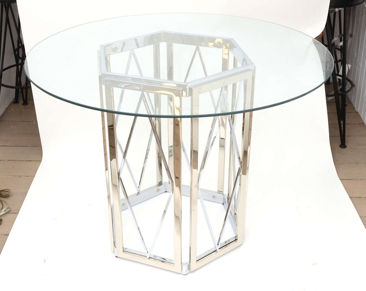 Polished Nickel Dining Table at 1stdibs : DSC7176 from www.1stdibs.com size 1207 x 960 jpeg 68kB