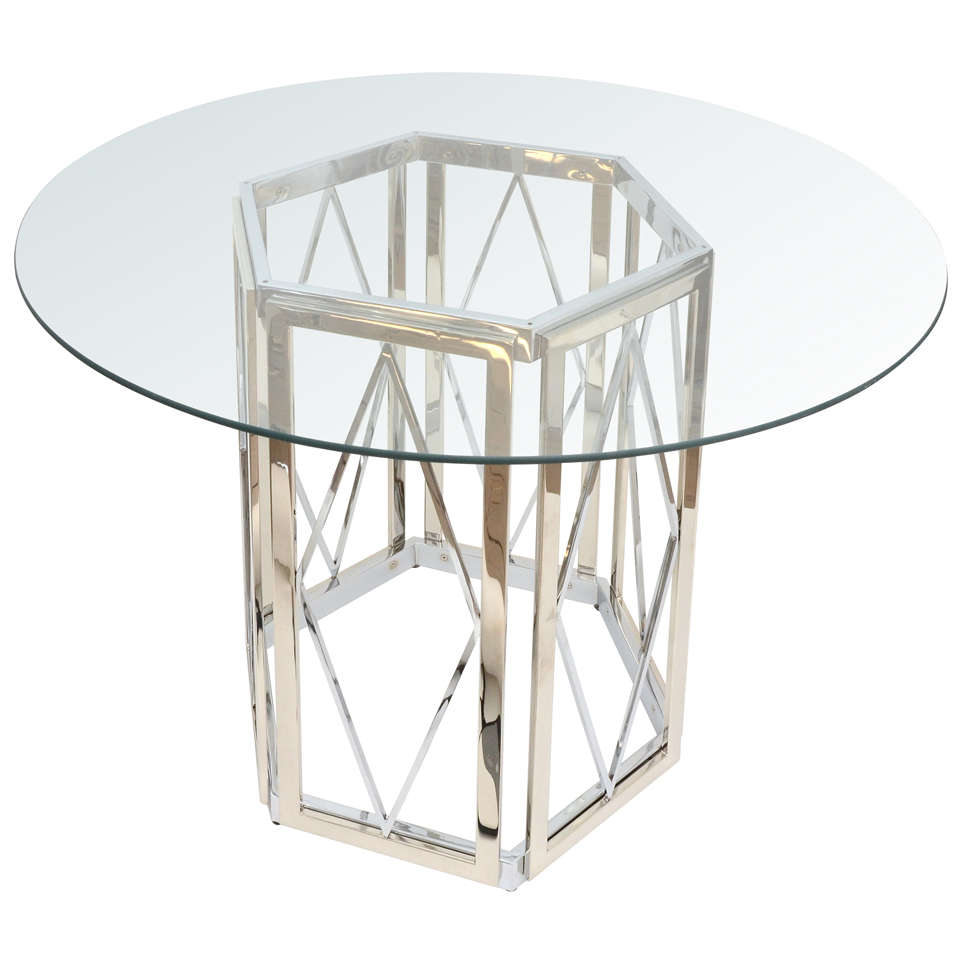 Polished Nickel Dining Table at 1stdibs : x from www.1stdibs.com size 960 x 960 jpeg 48kB