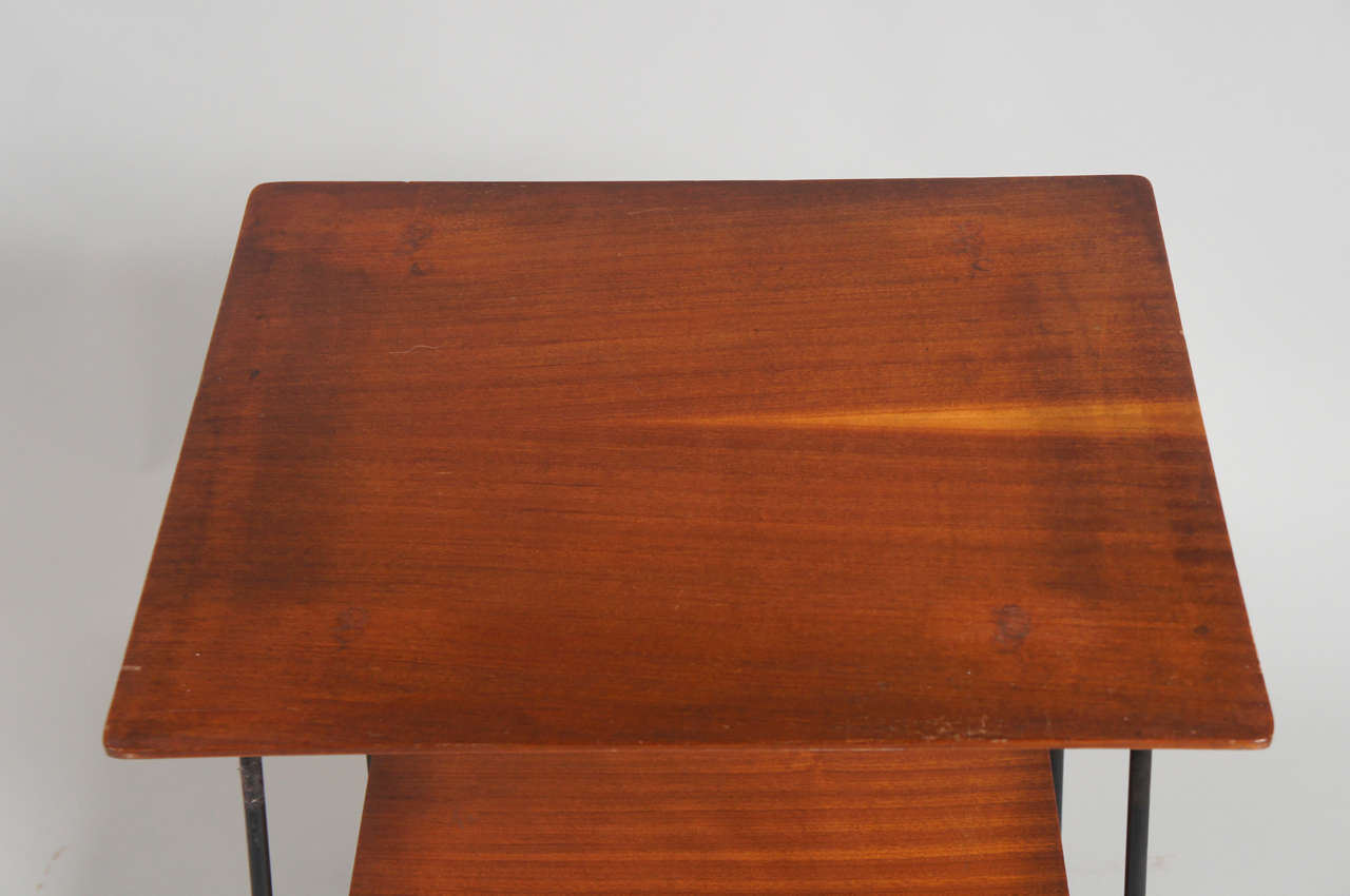 Italian Side Table with Wheels In Excellent Condition For Sale In Hudson, NY