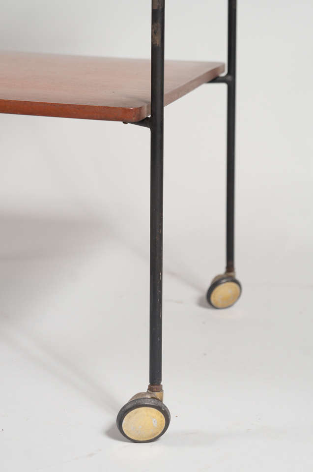 Italian Side Table with Wheels For Sale 1