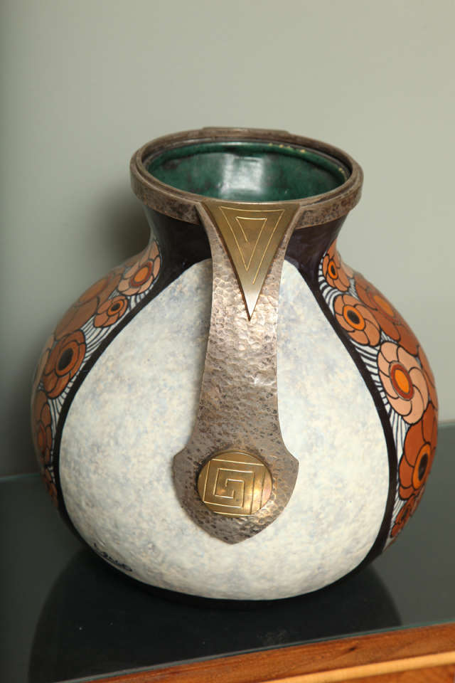 Art Deco Pottery Amphora Vase By Louis Dage For Sale At 1stdibs