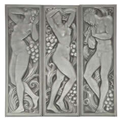 Art Deco Architectural Glass Panels by Lalique