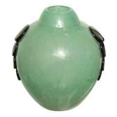 Charles Schneider Art Deco Emeraude Vase