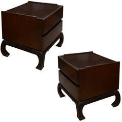 Pair Of Asian Style Nightstands