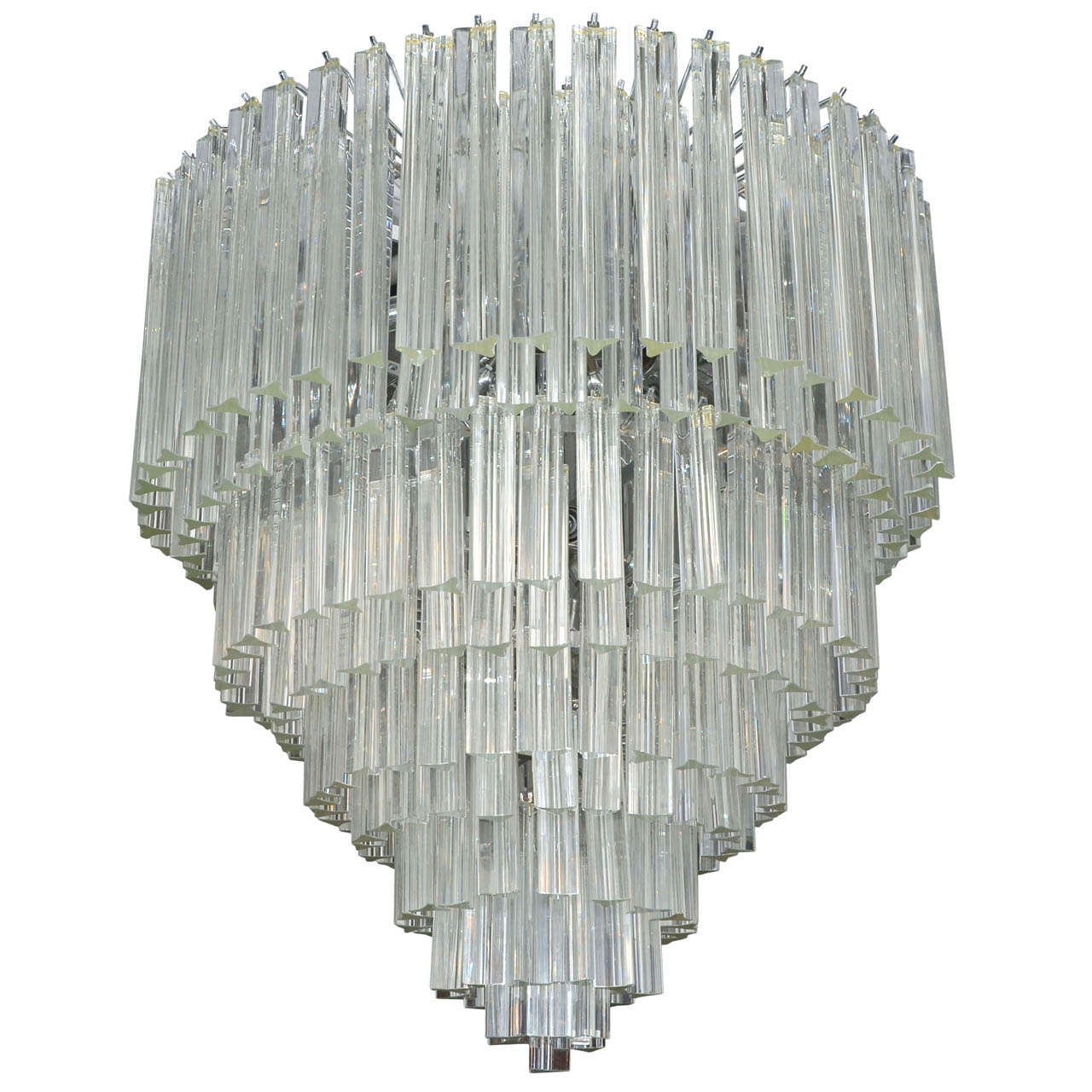 1970s Chandelier By Venini At 1stdibs