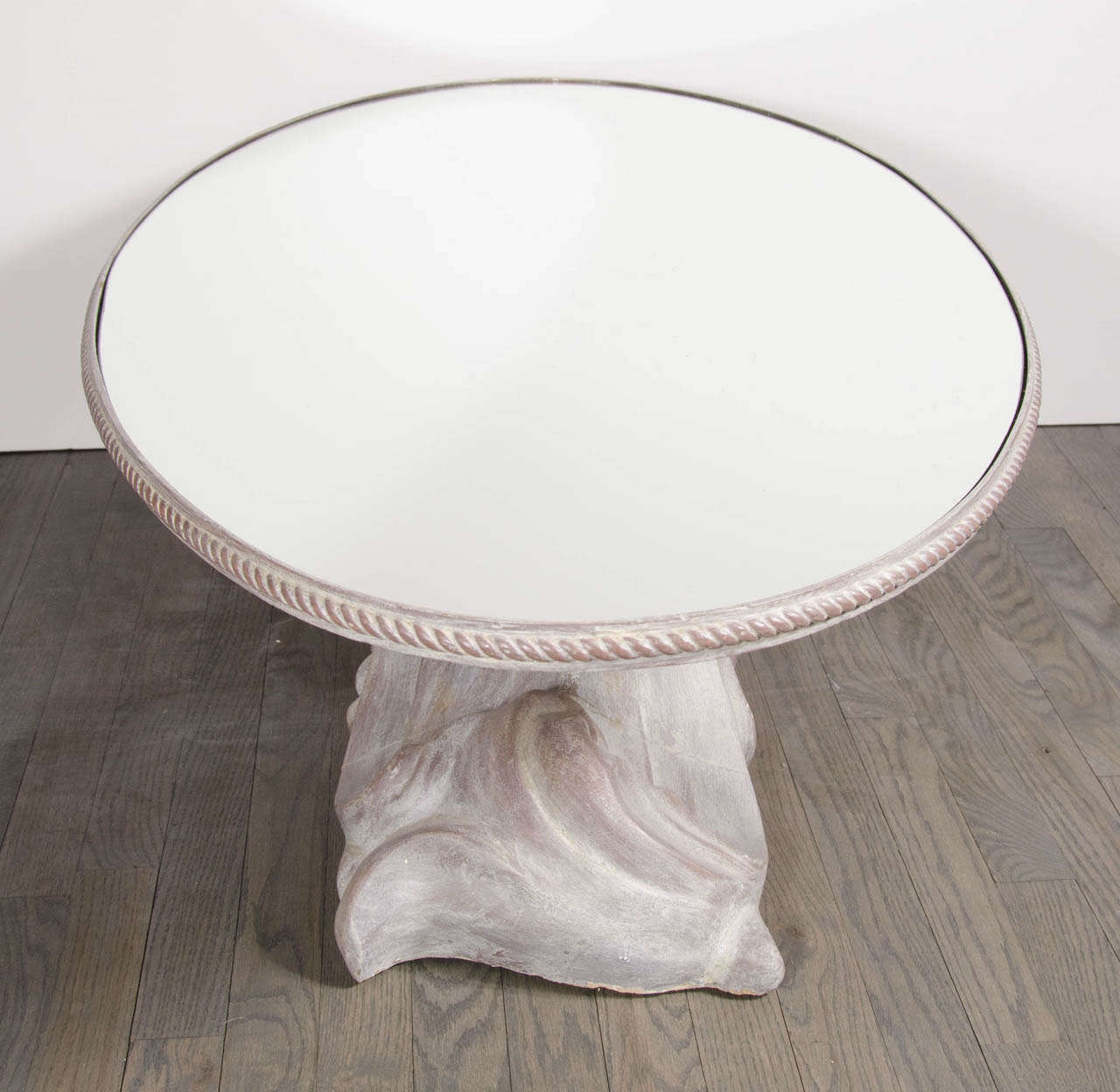 Elegant Oval Resin Cast Cocktail Table In The Manner Of