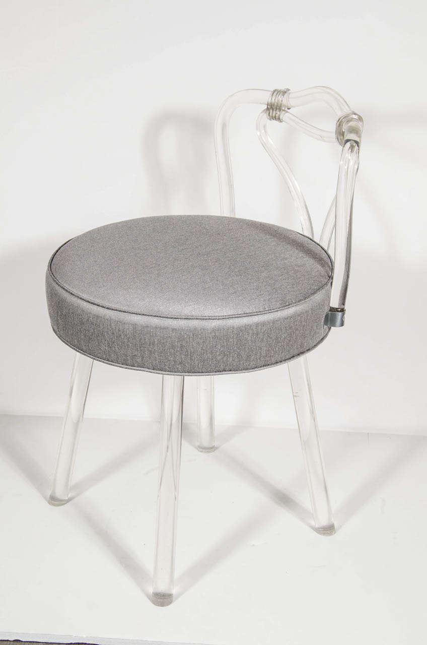 1940s hollywood lucite swivel vanity stool at 1stdibs
