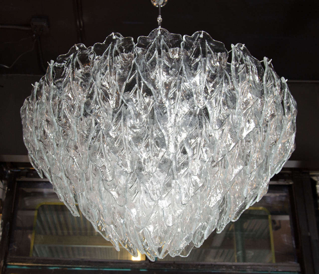 Opulent murano hand blown glass leaf chandelier at 1stdibs opulent murano glass chandelier featuring numerous tiers of hand blown murano glass leaves that individually hang aloadofball Choice Image
