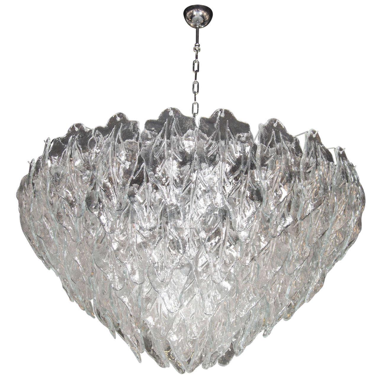 Opulent murano hand blown glass leaf chandelier at 1stdibs opulent murano hand blown glass leaf chandelier for sale arubaitofo Choice Image