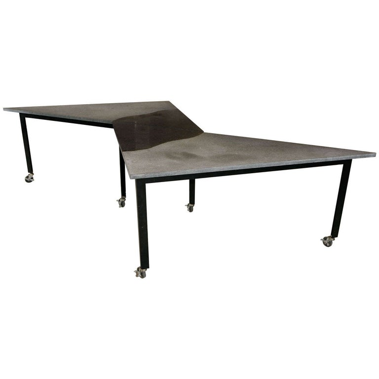 """Pair of Rei Kawakubo """"Grey Triangle"""" Tables For Sale"""