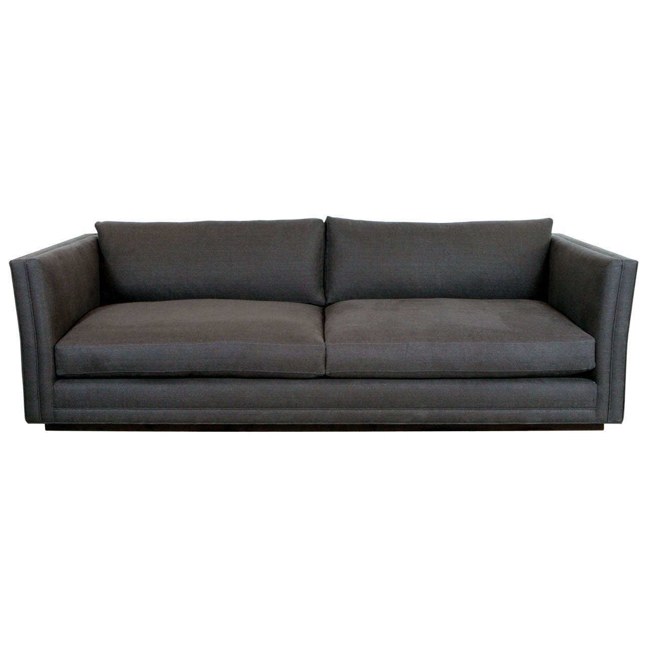 Nk collection modern sofa in grey linen for sale at 1stdibs for Gray sofas for sale