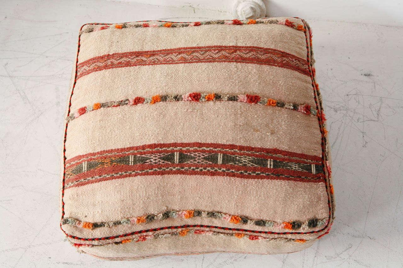 Various Vintage Moroccan Rug Poufs / Ottomans 5