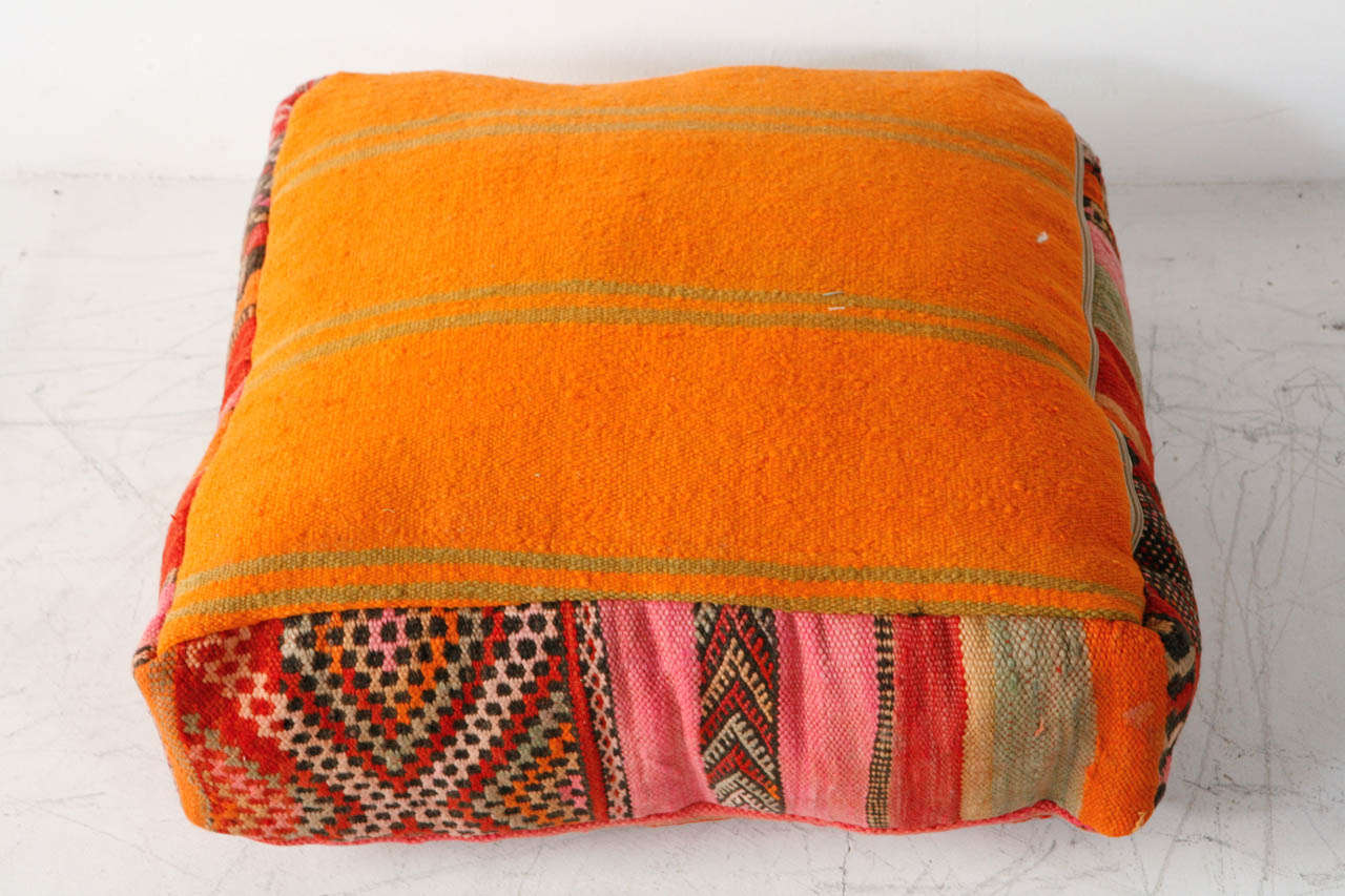 Various Vintage Moroccan Rug Poufs / Ottomans 6
