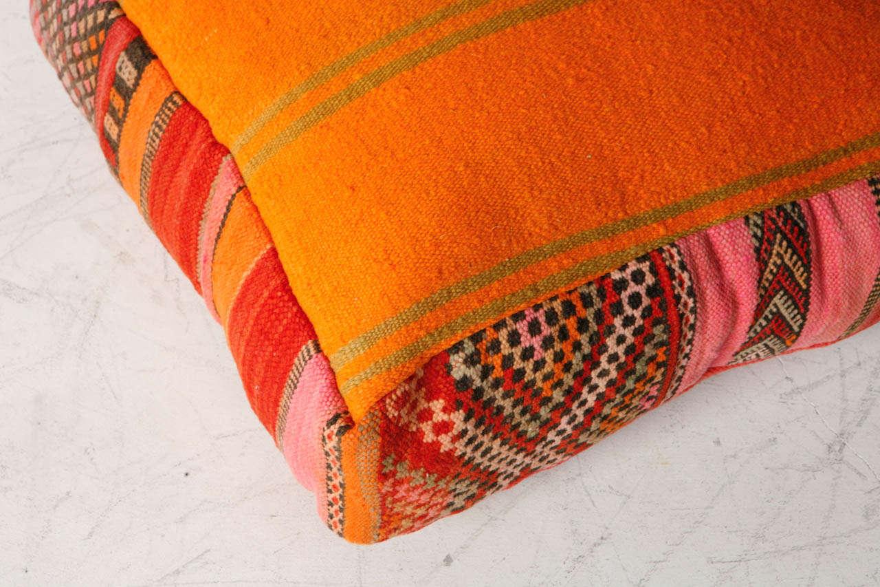 Various Vintage Moroccan Rug Poufs / Ottomans 7