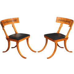 Pair of klismos chairs, after N.A. Abildgaard's design