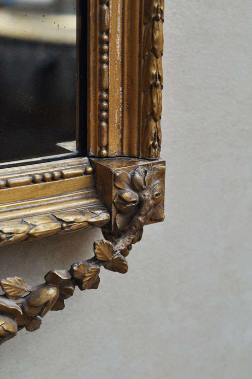 French Louis XVI Style Gilded Mirror For Sale 2