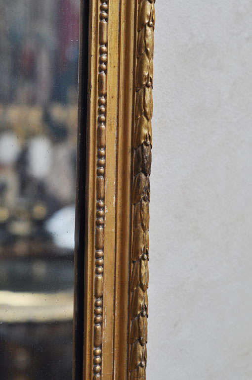 French Louis XVI Style Gilded Mirror For Sale 3