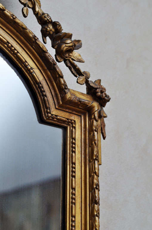 French Louis XVI Style Gilded Mirror For Sale 4
