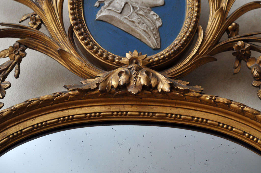 French Louis XVI Style Gilded Mirror For Sale 5
