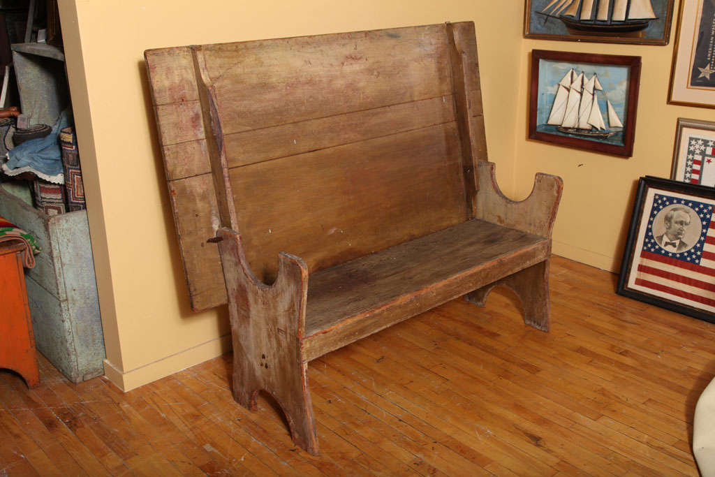 Wood American Hutch/Chair Table. For Sale