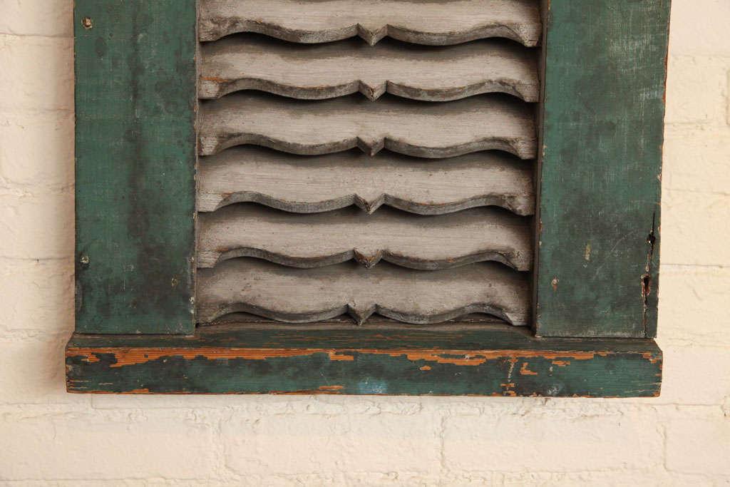 Paint Architectural Wood Vent. For Sale