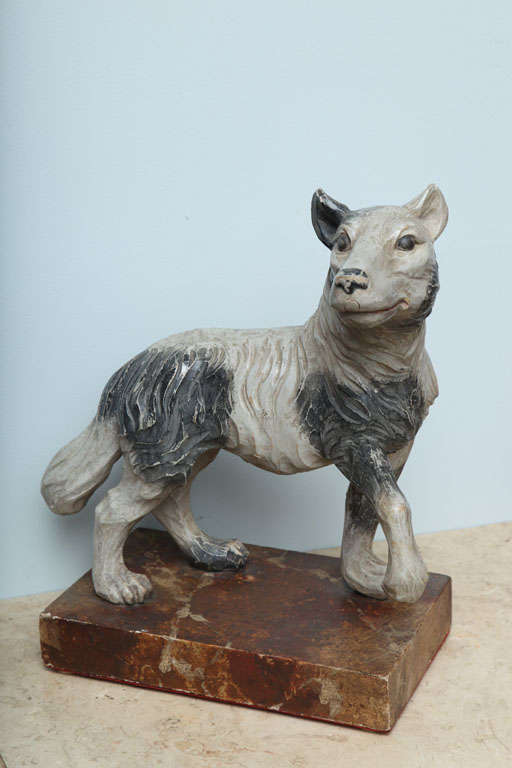 Th century italian carved wooden wolf at stdibs