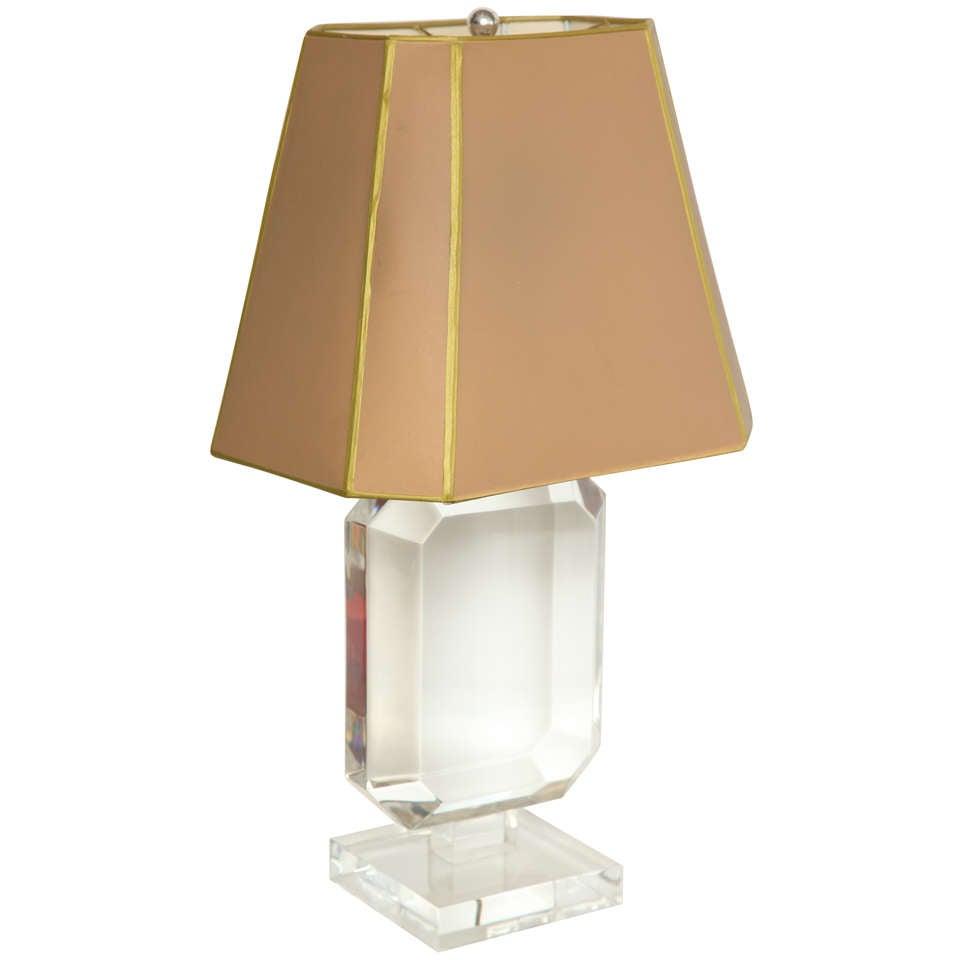 Les Prismatiques Lucite Table Lamp At 1stdibs