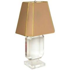 Les Prismatiques Lucite Table Lamp