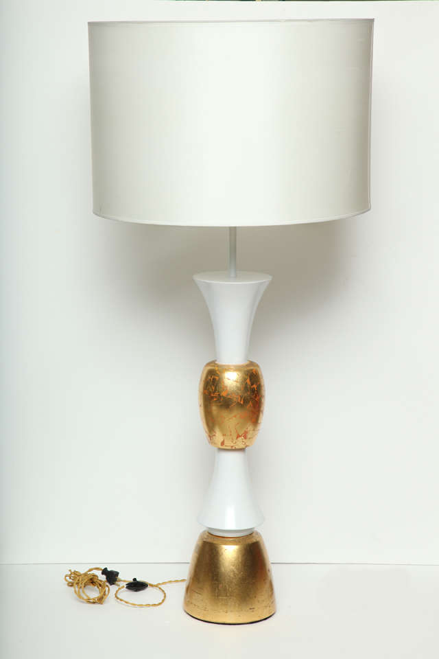 monumental white and gold leaf table lamp for sale at 1stdibs. Black Bedroom Furniture Sets. Home Design Ideas