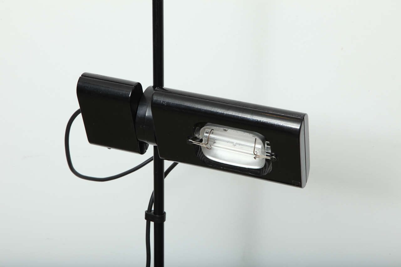 20th Century Minimalist Black Floor Lamp by Artemide For Sale